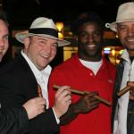 John Ost, Johnny Kovar, Heisman Trophy winner Ricky Williams, and Walter Briggs enjoying a great cigar event!